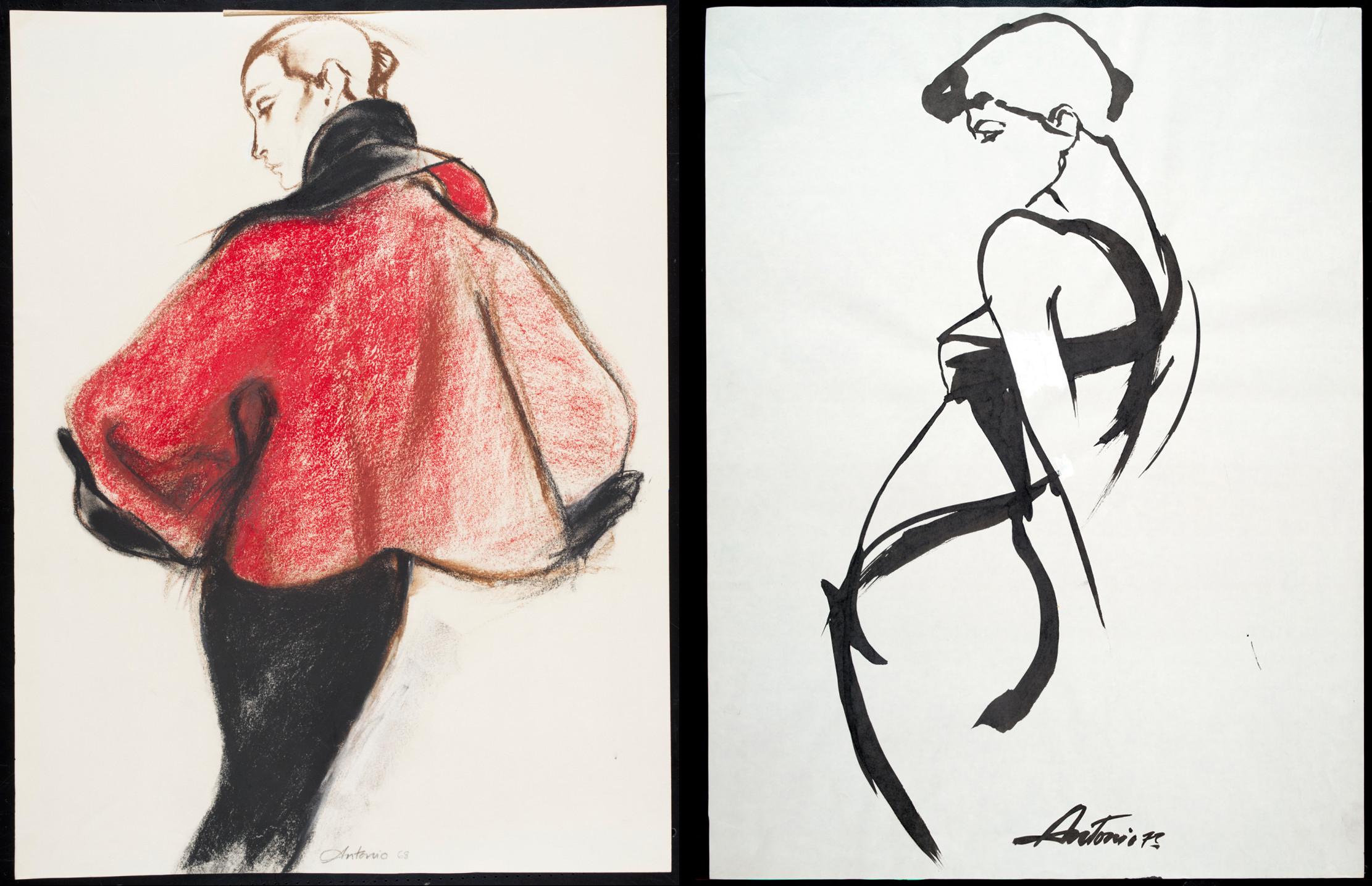Чарльз Джеймс - работы кутюрье в иллюстрациях Антонио Лопеса