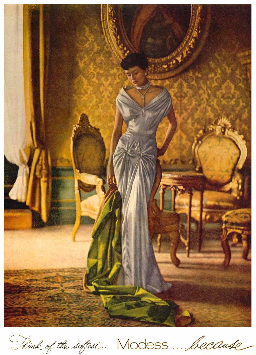 Рекламная кампания Modess... because, платье Чарльза Джеймса