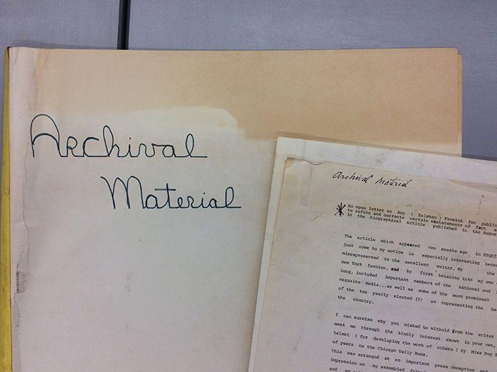 Страница из личного архива Чарльза Джеймса
