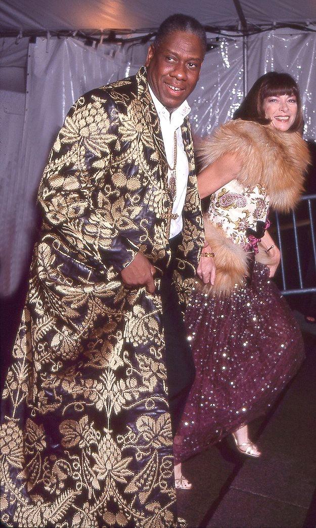 Анна Винтур и Андре Леон Телли на Met Gala 1999