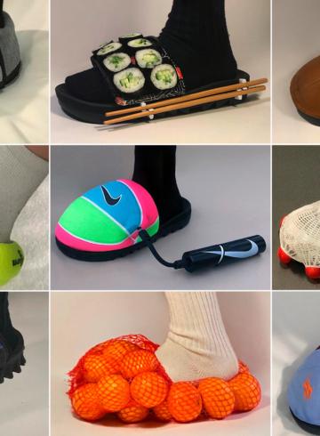 Николь Маклафлин делает безумную обувь из воланов и мячей