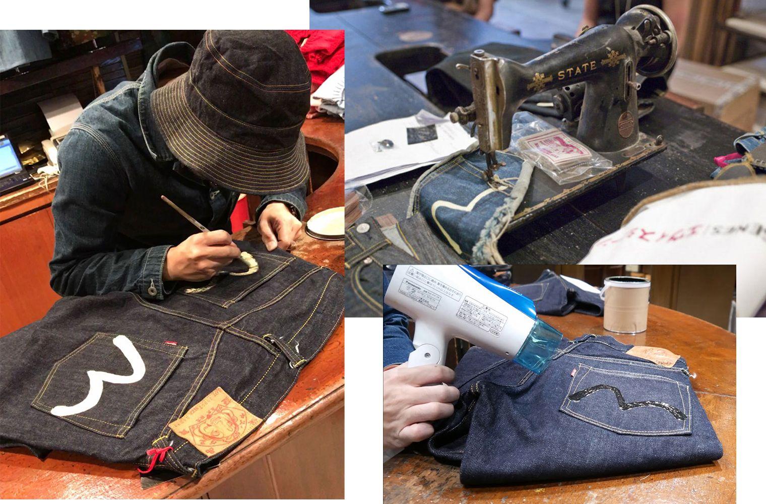 Ручной процесс создания джинсов EVISU — история джинсового бренда EVISU