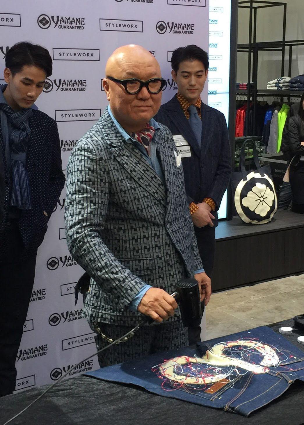 Основатель бренда EVISU Хидэхико Яманэ