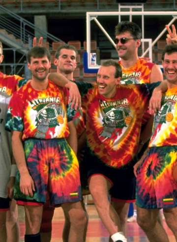 Форма сборной Литвы по баскетболу от Grateful Dead - история тай-дай-футболок