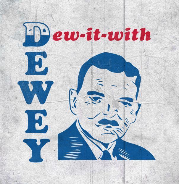 Футболка с надписью «Dew it with Dewey» — история футболки как символа протеста