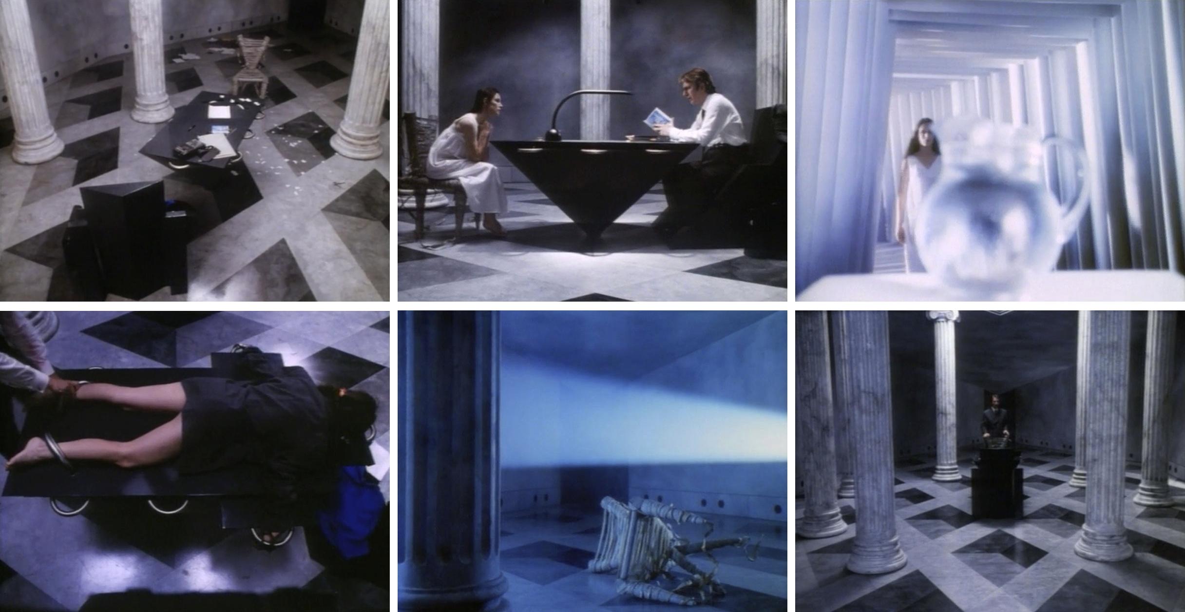 Кадры из фильма «Страна в шкафу» с декорациями Эйко Исиоки