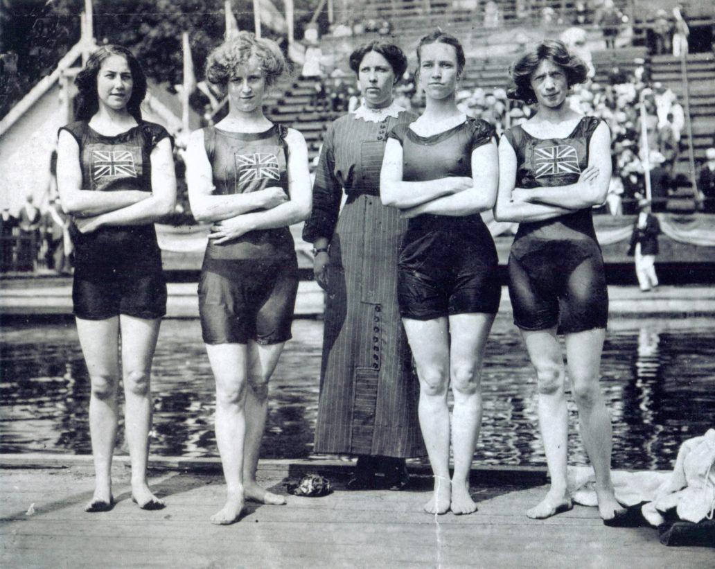 Купальники сборной Великобритании на Олимпийских играх-1912
