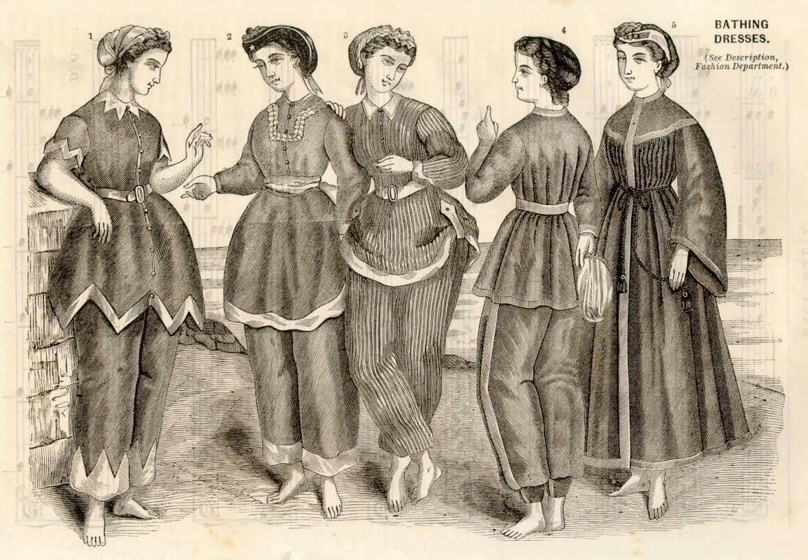 Женские купальные костюмы 19 века