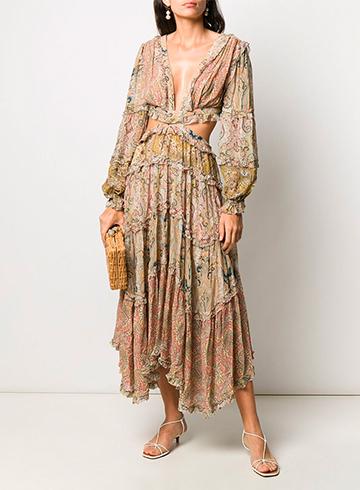 Платье с узором пейсли купить