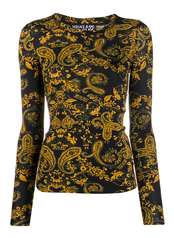 Versace Jeans Paisley Top