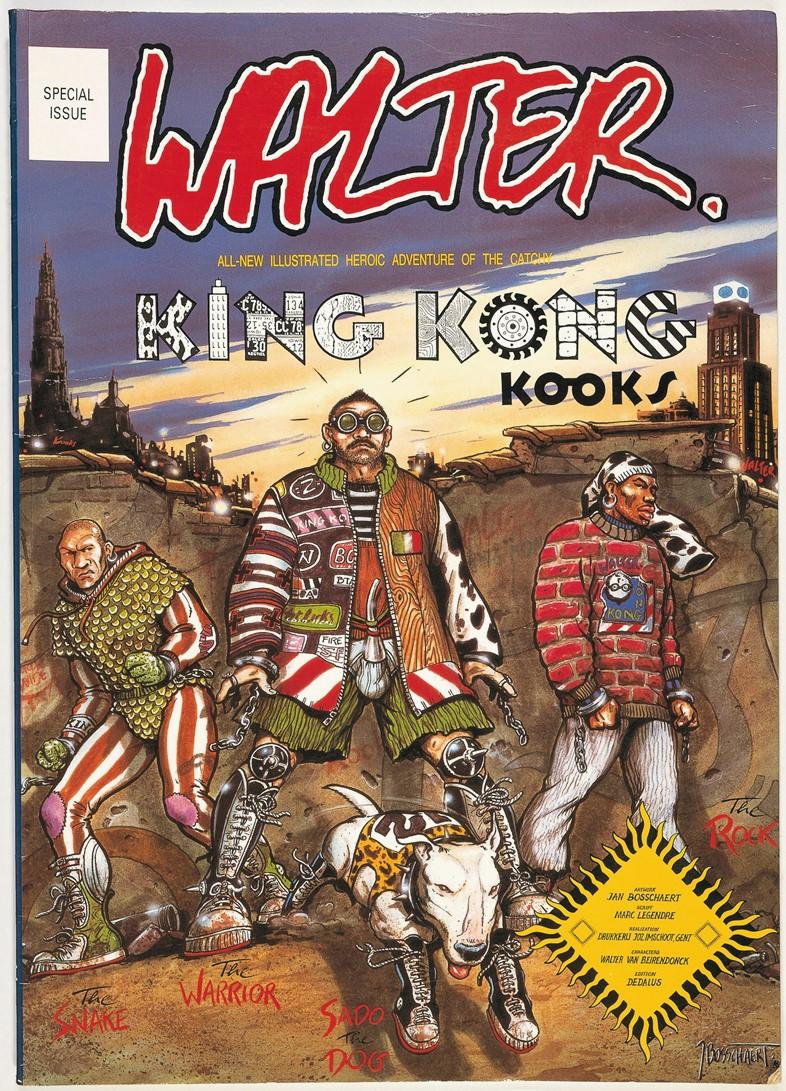 Вальтер Ван Бейрендонк выпустил комикс для коллекции Walter Van Beirendonck SS89 «King Kong Kooks»