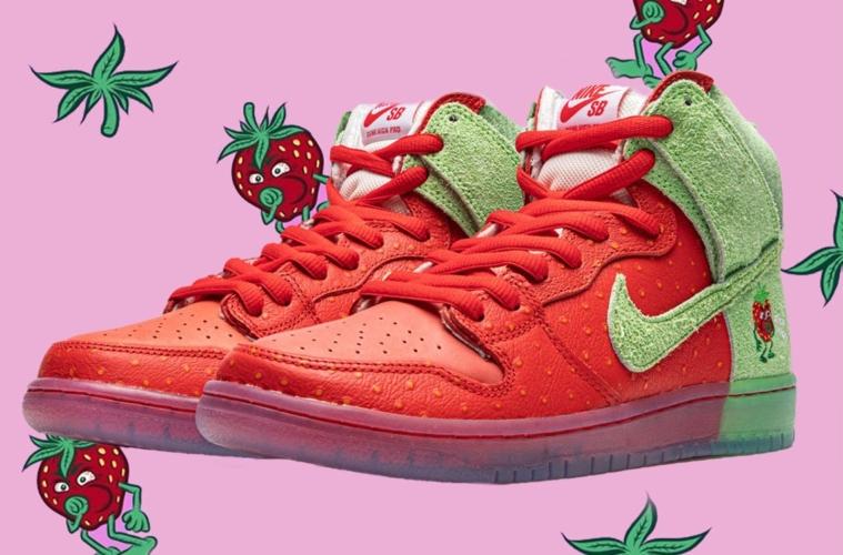 Nike SB Dunk High Pro QS «Strawberry Cough» детали релиза
