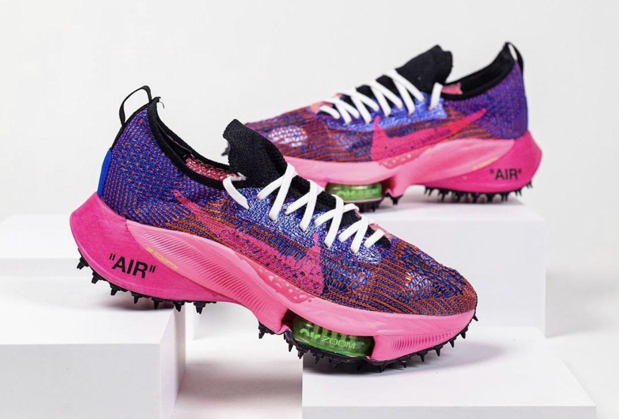 Off-White x Nike Air Zoom Tempo Next% выйдут в расцветке «Pink Glow»
