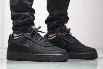 Stussy x Nike Air Force 1 «Black» - первый взгляд