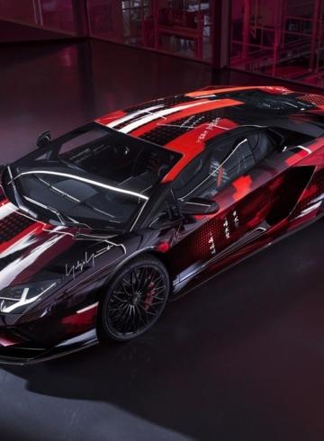 Yohji Yamamoto x Lamborghini Aventador S - детали коллаборации