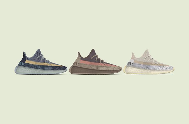 adidas Yeezy Boost 350 V2 «Ash Stone», «Ash Blue» и «Ash Pearl» - релизы 2021 года
