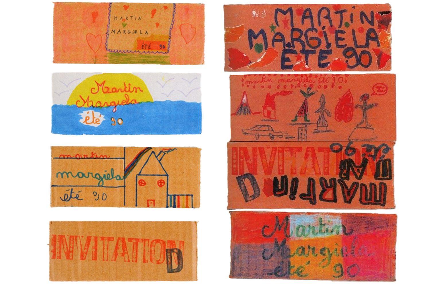 Необычные приглашения на показы - шоу Maison Martin Margiela Spring/Summer 1990