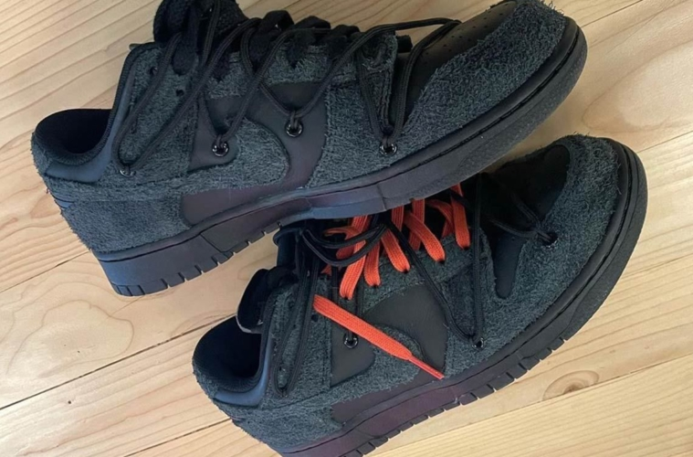 Off-White x Nike Dunk Low Black - первый взгляд