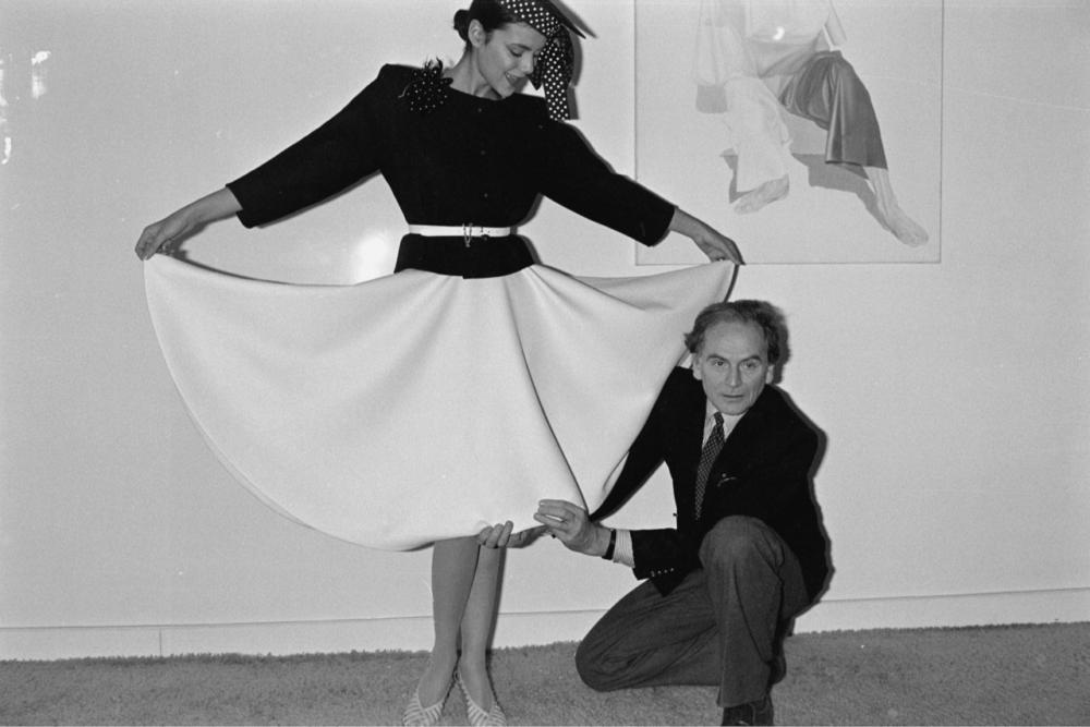 Пьер Карден с моделью