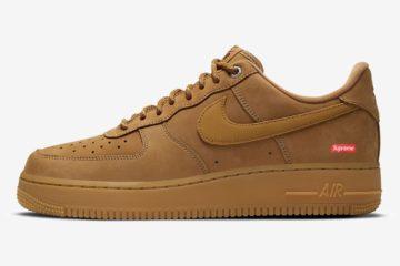 Supreme x Nike Air Force 1 «Flax» первый взгляд