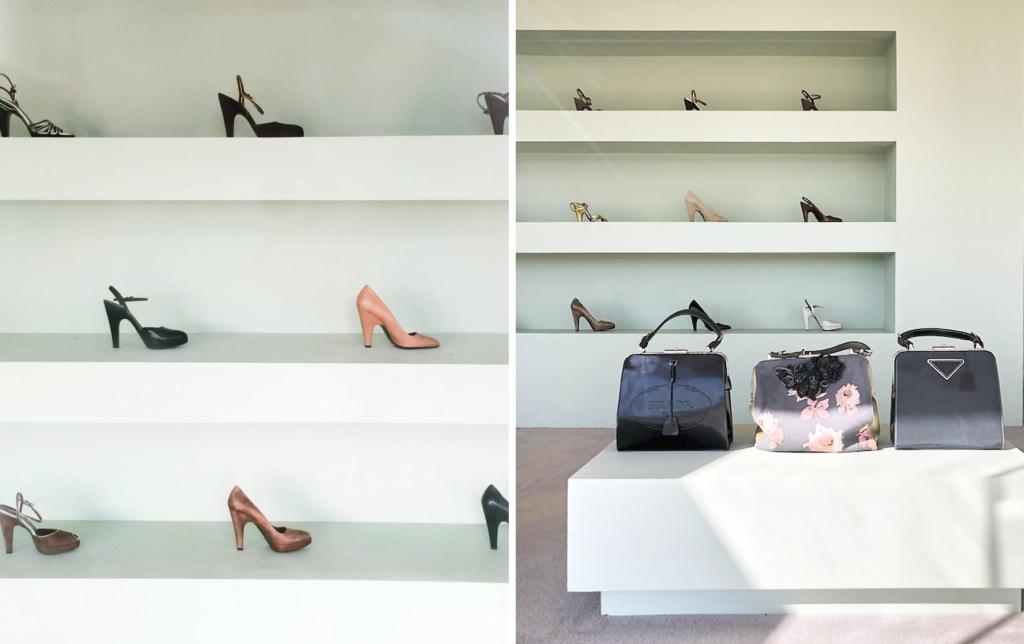 Сумки и туфли в бутике Prada Marfa