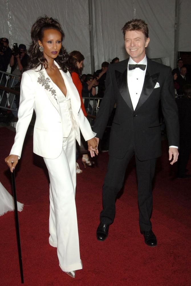 Met Gala 2007: «Poiret: King of Fashion» Иман и Дэвид Боуи
