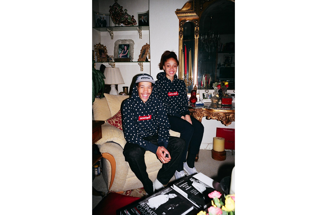 Supreme x Comme des Garcons Shirt Spring Summer 2012 Lookbook with Adwoa Aboah and Lucien Clarke 2