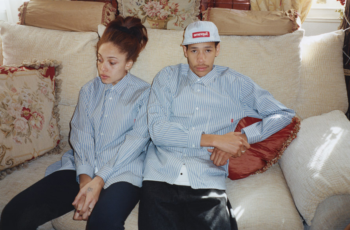 Supreme x Comme des Garcons Shirt Spring Summer 2012 Lookbook with Adwoa Aboah and Lucien Clarke